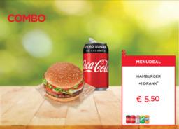 Hamburger + Drankblikje