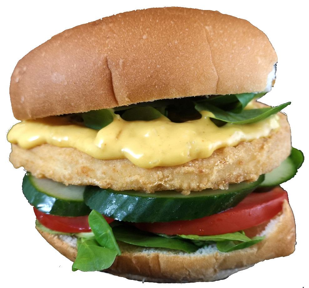 Broodje kipburger ''deluxe''