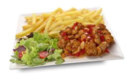 Hete kip menu