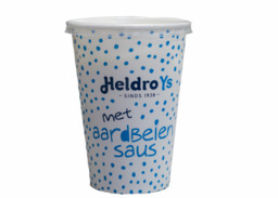 Heldro ijs Beker Wit met aardbeiensaus doos 11 stuks