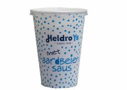Heldro ijs Beker Wit met aardbeiensaus
