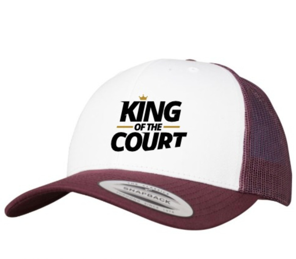 King of the Court Cap - Red/White