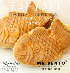 taiyaki read bean 2 stuks